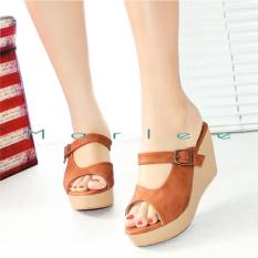 Marlee CC-09 Sandal Wedges Wanita - Tan