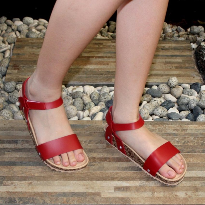 10 Marlee Ro 01 Sandal Cross Strap Platform Anak Ungu