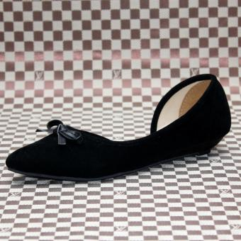 Marlee JP-107 Flat Shoes - Hitam - 3 .