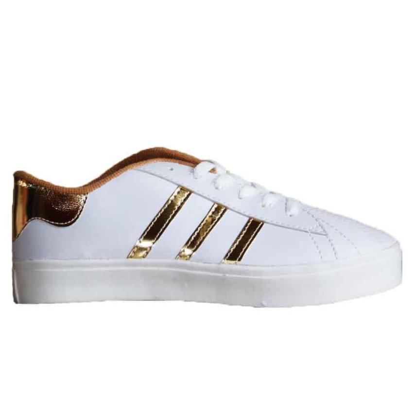 Marlee LU-05 Sneaker Shoes 3 Strap - Gold