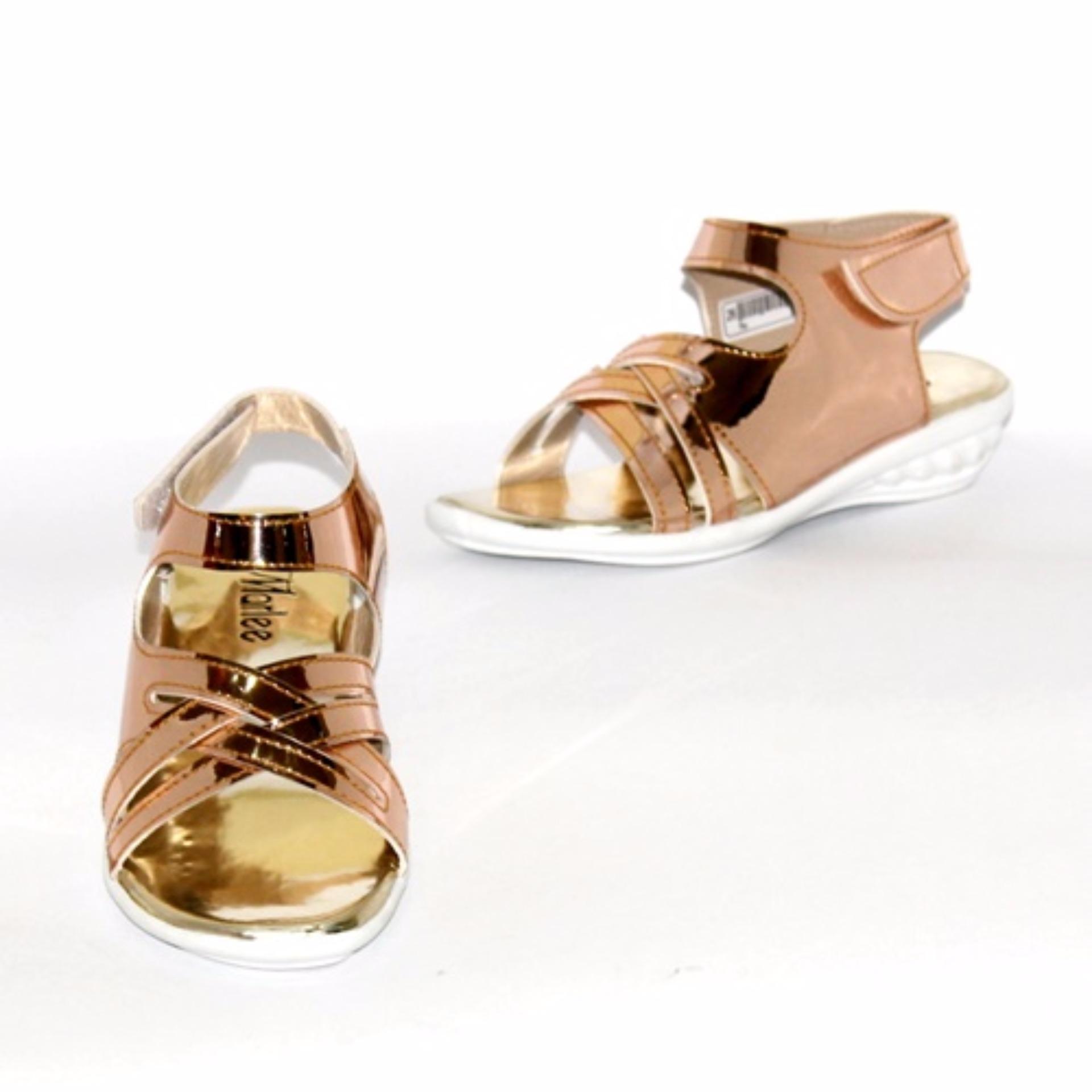 Marlee NK-01 Sandal Slip On Anak - Gold .