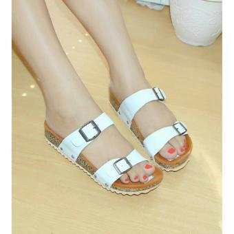 Flat Shoes Wanita Pita Belakang - Mocca