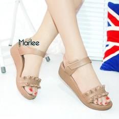 Marlee Velco Strap Wedges Wanita DK-13