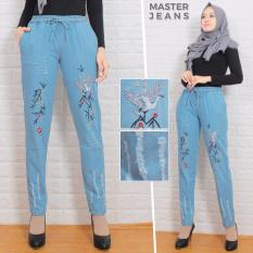 master jeans celana wanita baggy ripped/boyfriend/bordiran