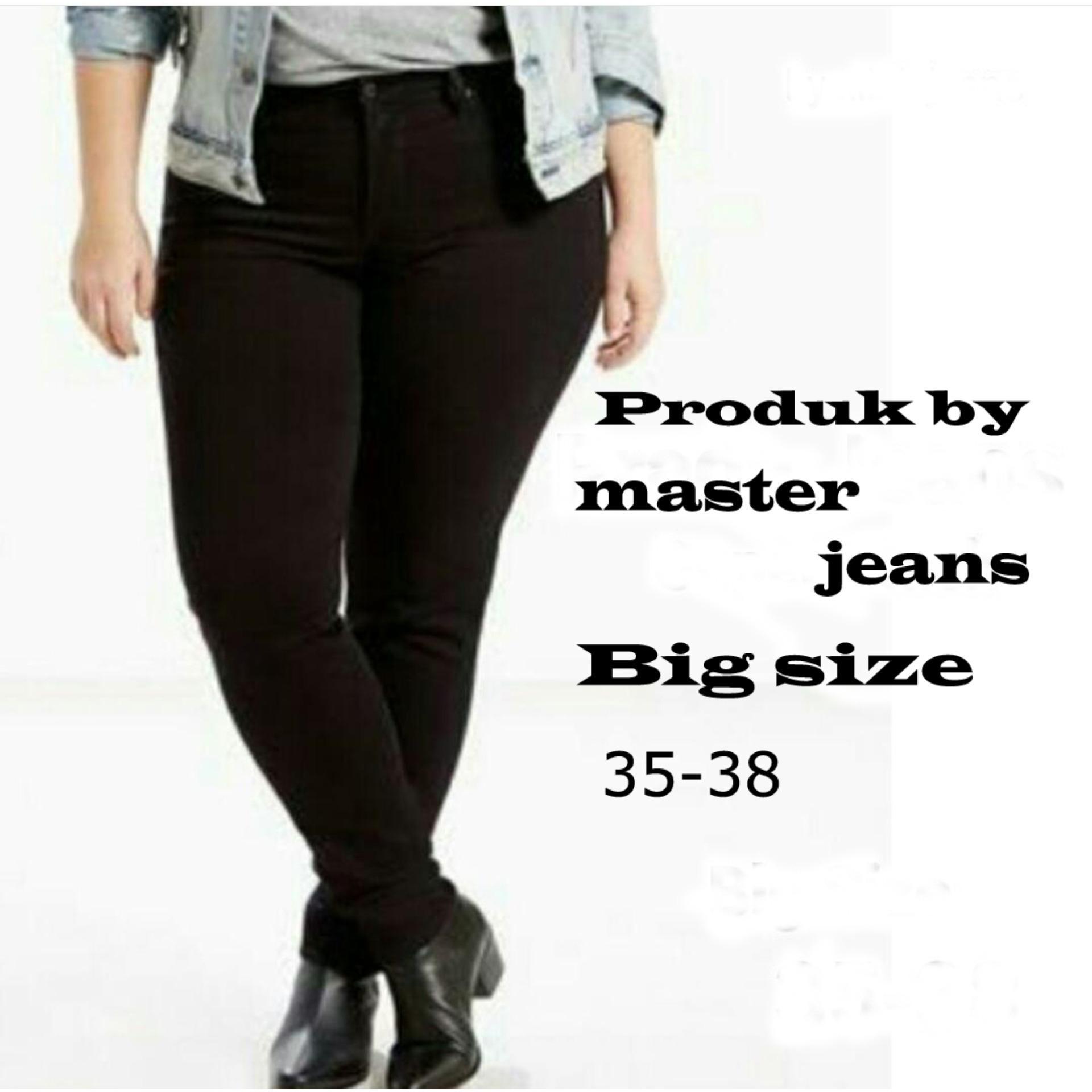 Master Jeans Celana Wanita Skinny Big Size Daftar Update Harga Flash Sale Hitam