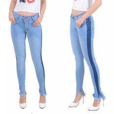 master jeans celana  wanita sobek rawis model terbaru