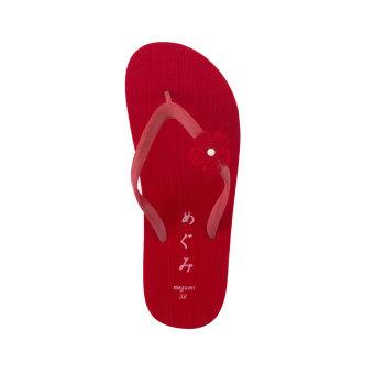 ... Megumi Freesia Sandal Jepit - Merah - 4 ...