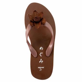 Megumi Sandal Jepit Wanita Petunia - Brown - 4