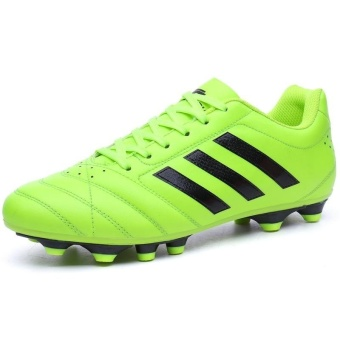 Men Sweat Anti-skid Comfortable Cushioning Breathable Wear-resistant Soccer Shoes - intl