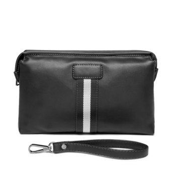 Men's Retro Leather Clutch Hand Bag Business Handbag Envelope Metrosexual Casual Mobile Phone Bag(black) - intl - 2