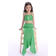 Mermaid Tail Swimwear New Fashion Kids Swimwear Summer Lingerie Performance Clothing Bikini Girls Split - Green