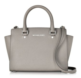 Michael Kors Selma Satchel - Medium - Grey