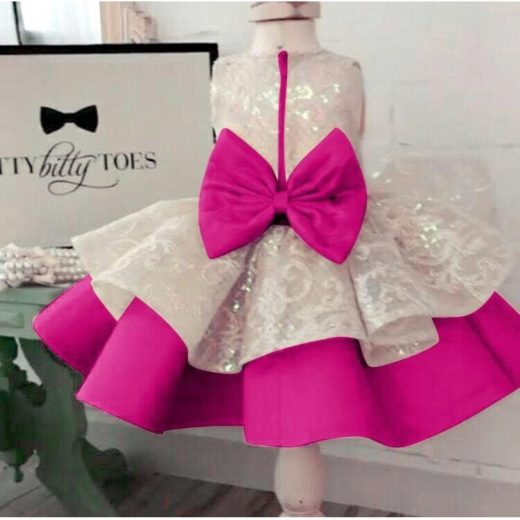 MJ Dress Anak naomi Kids - Pink