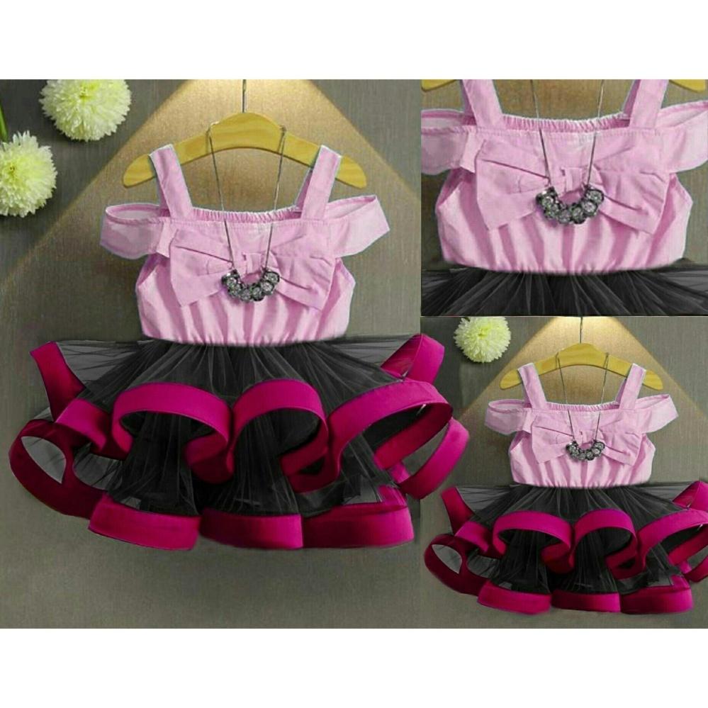 MJ Dress Anak Sabrina Kids - Pink