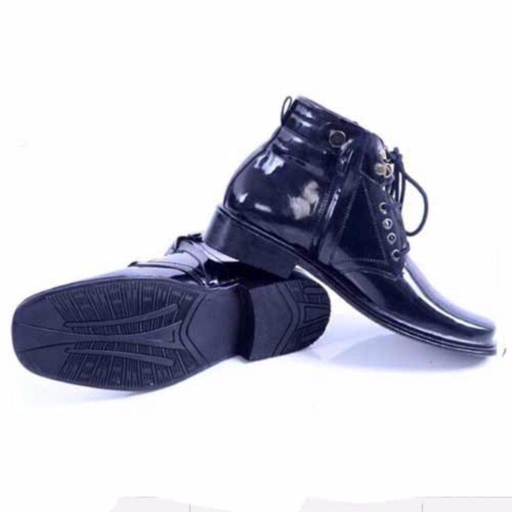 Perbandingan Harga Mj Sepatu Pria Pdh Tali Resleting Kilap Hitam Ressleting Mengkilap