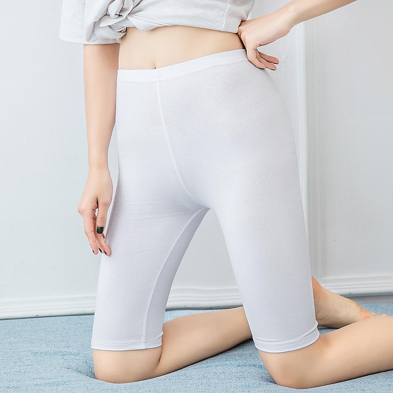 MM katun pakaian luar lima celana renda celana keselamatan (Putih 5 poin datar) (