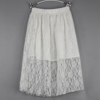Perempuan baru serut renda A rok kata gaun (Abu-abu). Source · Cari Bandingkan Mode kecil anak renda rok rok Gaun (Putih) .