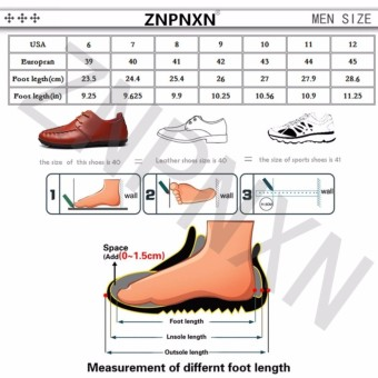 Mode The Man ZNPNXN Renda Up/Loafers Differences Kulit Serta Chemicals (Putih) - 5