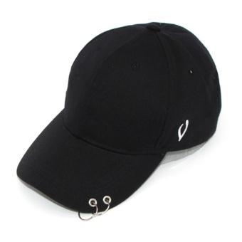 Detail Gambar Moonar Unisex Hip - Hop Dapat Disesuaikan Topi Bisbol dance  pria Hat dengan cincin 5bd132938f