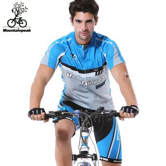 Mountainpeak pria dan wanita mengendarai celana pendek sepeda pakaian berkuda pakaian (Qashqai lengan pendek setelan model laki-laki)