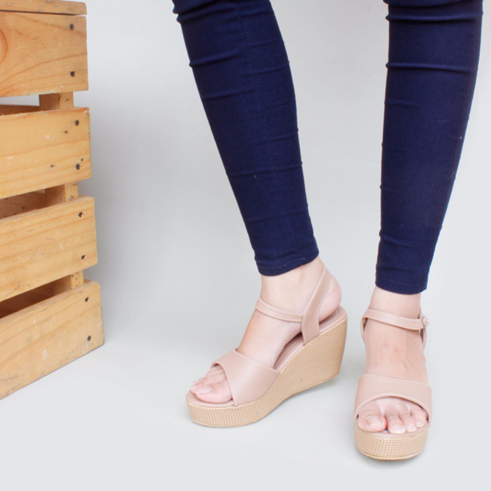 Moya Pump Shoes Toe High Heels Glitter Hitam Page 2 Daftar Sepatu Wanita Fs62 Coklat Wedges Ankle Strap Cy07 Mocca