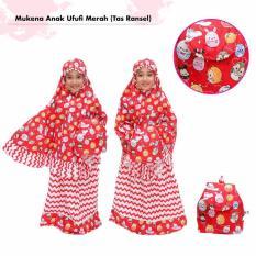 Mukena Anak Ufufi Merah (Tas Ransel)