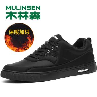 MULINSEN Korea Fashion Style Laki-laki Musim Gugur Dan Dingin Baru Pasang Sepatu Sepatu Pria (270060M semua hitam [Ditambah])