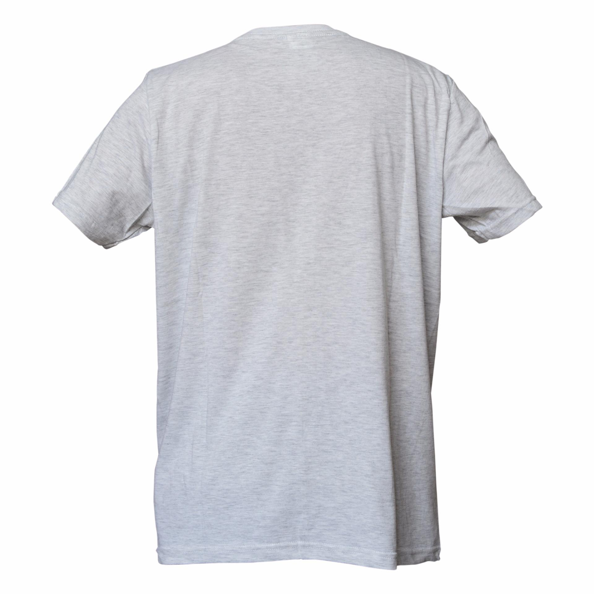 Muscle Fit Kaos Polos T-shirt V-neck Lengan Pendek Cotton .