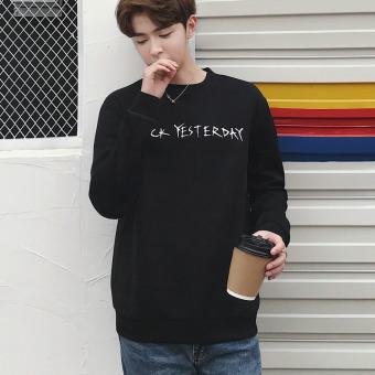 Pencari Harga Musim gugur baru siswa pada pria sweater versi Korea dari leher bulat lengan panjang t-shirt (QT3010-WY209-F25 hitam dan putih) Perbandingan ...