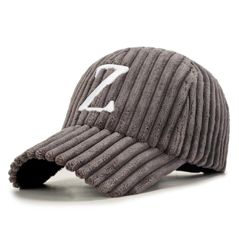 Musim Gugur Dan Musim Dingin Korea Fashion Style Corduroy Melengkung Topi Corduroy Topi (Surat model