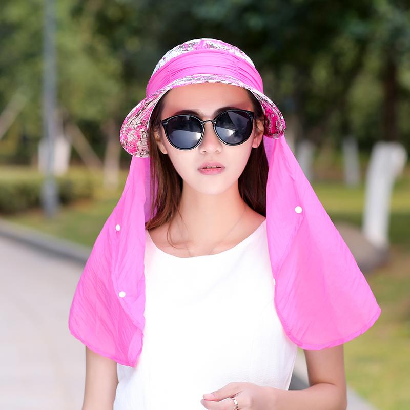 Musim panas luar ruangan tahan angin topi pelindung matahari topi topi (Mawar merah)