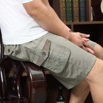 Gambar Musim panas pria longgar, celana kasual lima celana (858 abu abu terang)