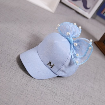 Musim Semi dan Gugur bagian tipis topi topi topi baseball (Untuk lingkar kepala yang sebenarnya 50-55 CM + Biru)