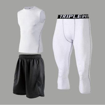 Jual Musim semi dan musim panas anak-anak stoking untuk pria dan wanita pelatihan pakaian (1002 + celana putih tiga potong) Murah