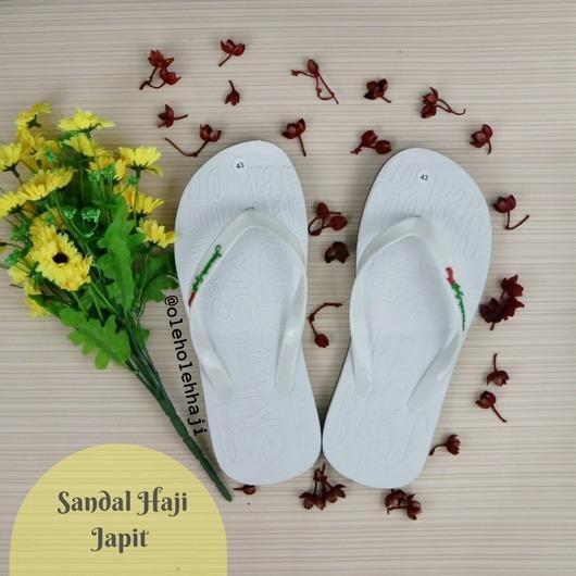 Murah Meriah Nabawi Sandal Jepit Haji Umroh - Putih