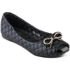 Nana Blanche Sabina Sepatu Flat Premium, Sepatu Kerja Wanita - 1155-80 Hitam