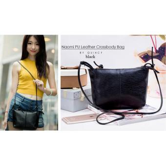 ... Naomi PU Leather Crossbody Bag Free Mini Pouch / Tas Selempang Wanita - Cream - 3 ...