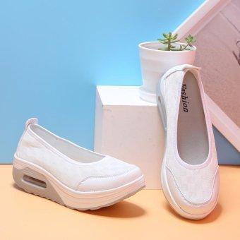 New Fashion Wanita Sepatu Casual Jalan Sepatu Manis Sepatu datar Women Casual Shoes Street Shoes Sweet Flat Shoes-intl - 4