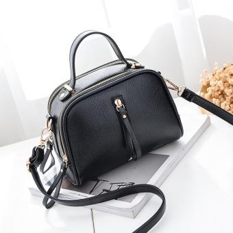 New Fashion Women Trend Zipper Leather Handbags Fashion Single Inclined Shoulder Bags - intl