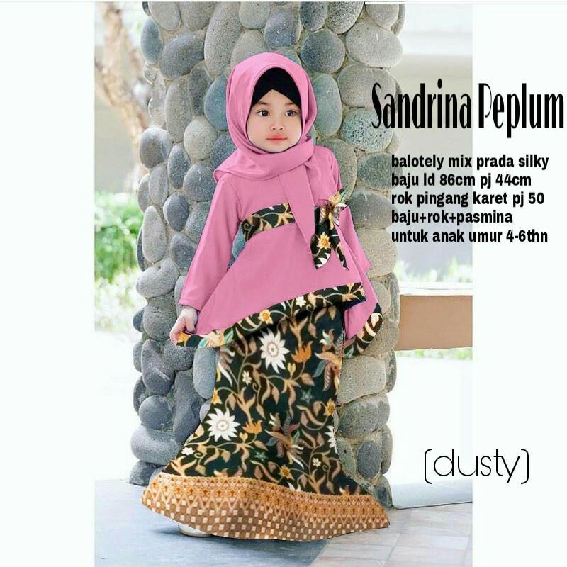 Newoneshop sandrina gamis syari anak fashion muslim anak wanita maxi dress wanita