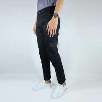 NHS Celana Chino Pria Slim Fit [Hitam] - 4