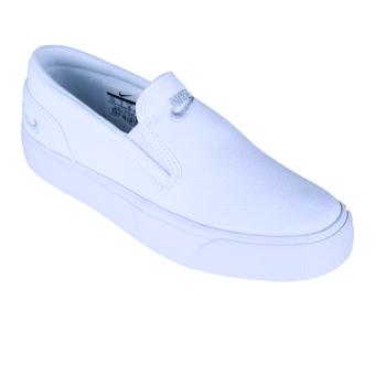 harga Nike Womens Toki Slip Canvas Sepatu Sneakers - White/Mtlc Platinum Lazada.co.id