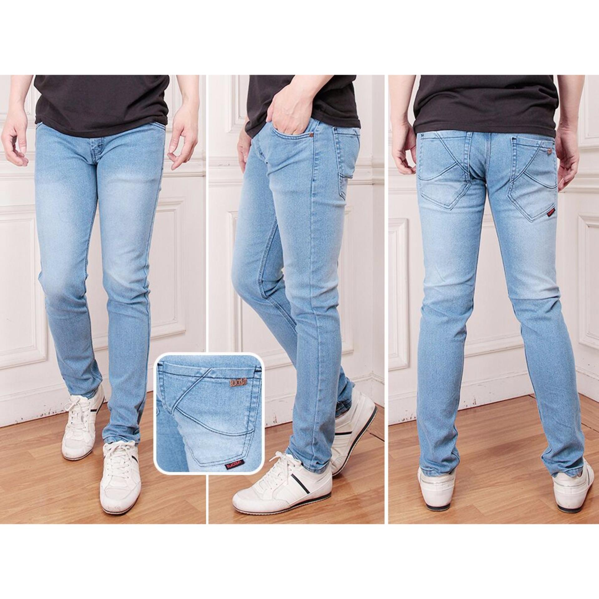 Flash Sale Nj Celana Jeans Denim Slim Fit Pria Bio Bliz Price Blackfield Ripped Hitam