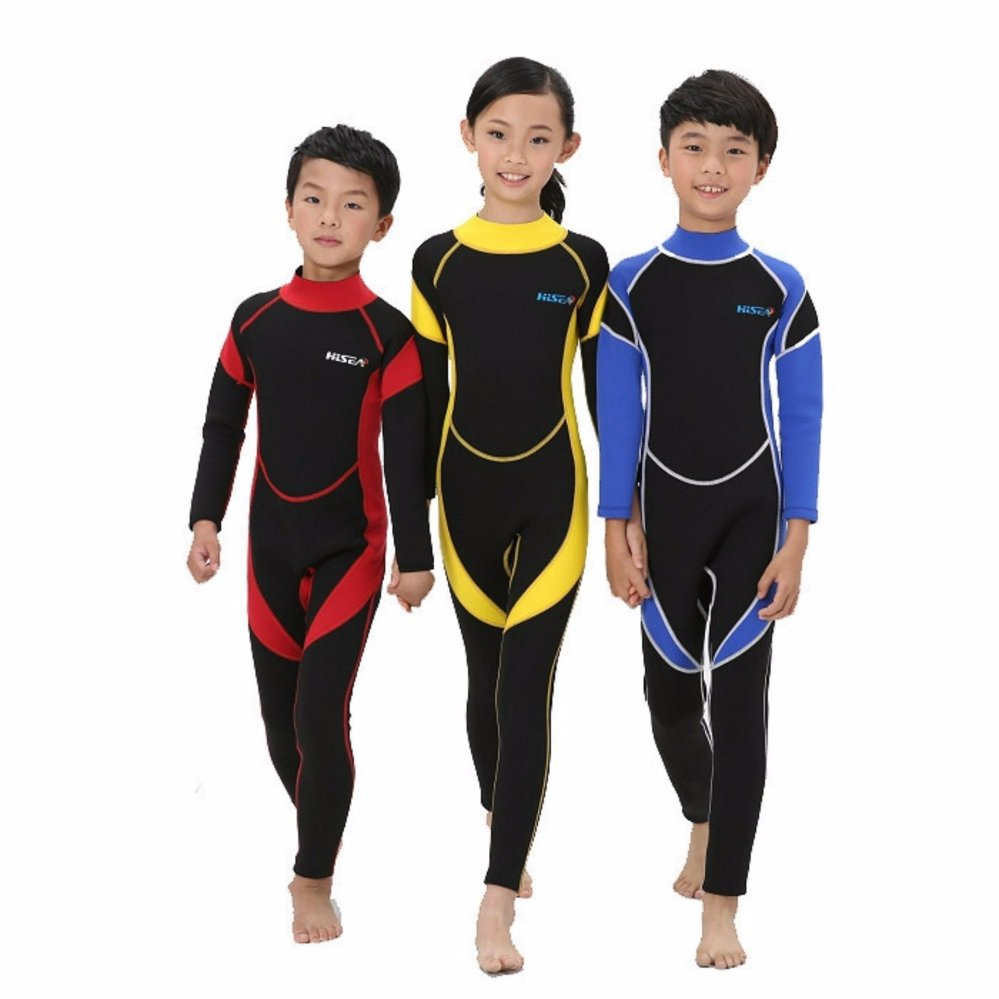 ... Ocean Children A bathing suit Diving suit conjoined To keep warm 2 5 mm Long sleeved