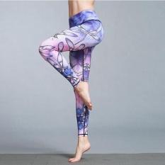 Ocean New Sports Women Pants Animal printed Yoga Motion TightElastic Training Bodybuilding pants(HK60 Dragonfly