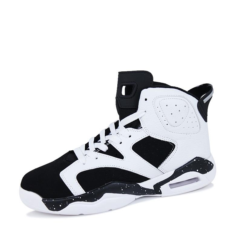 Olahraga Fashion Pria Sepatu Basket Hitam   Putih - Daftar Harga ... 115638a16f