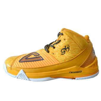 Olimpiade e11975a laki-laki bantuan tinggi SHININGSTAR model non-slip sepatu sepatu basket (Yang mendalam oranye/biru tua)