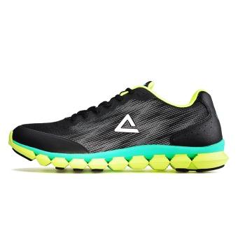Olimpiade E53997H kasual beberapa model siswa bernapas sepatu sepatu running (Hitam/kuning neon)
