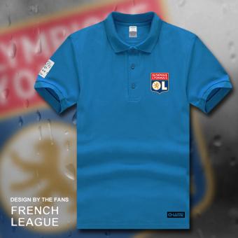 kerah polo kemeja musim panas lengan pendek t-shirt jersey (Polo .