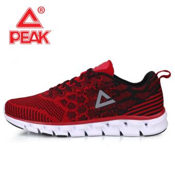 Olimpiade ringan bernapas bantalan kebugaran sepatu sepatu running (Yin Hong/hitam)